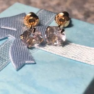 NEW 4 prong Martini cut Topaz studs